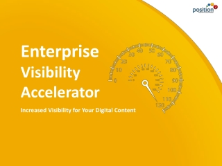 Enterprise Visibility Accelerator (EVA) – Position2