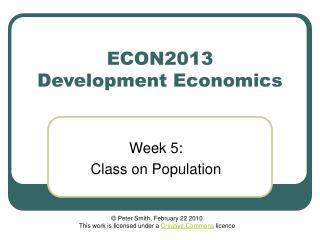 ECON2013 Development Economics