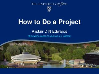 How to Do a Project