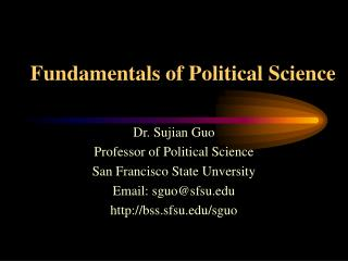 Fundamentals of Political Science