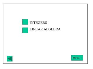 INTEGERS LINEAR ALGEBRA