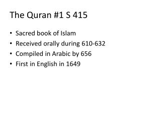 The Quran #1 S 415