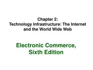 Chapter 2: Technology Infrastructure: The Internet and the World Wide Web