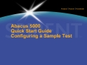 abacus 5000 quick start guide configuring a sample test