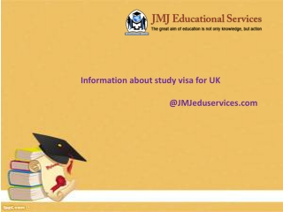 Information about study visa for UK