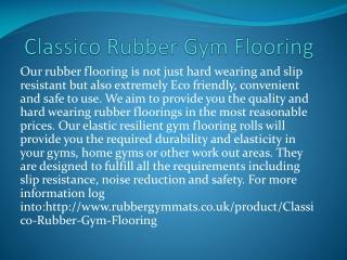 Classico Rubber Gym Flooring