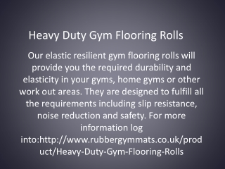 Heavy Duty Gym Flooring Rolls