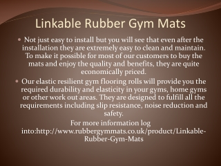 Linkable Rubber Gym Mats