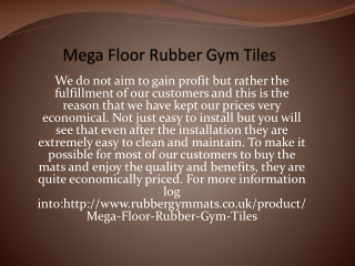 Mega Floor Rubber Gym Tiles