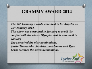GRAMMY AWARD 2014