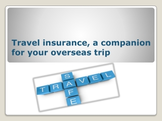 Travel Insurance, A Companion for Your Overseas Trip
