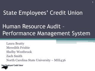Human Resource Audit   Performance Management System