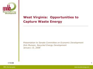 West Virginia: Opportunities to Capture Waste Energy