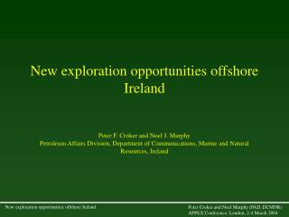 New exploration opportunities offshore Ireland
