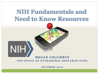 NIH Fundamentals and Need to Know Resources