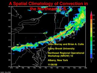 A Spatial Climatology of Convection in the Northeast U.S.