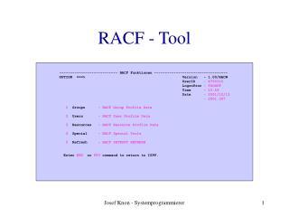 RACF - Tool