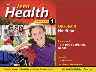 Chapter 4 Nutrition