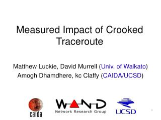 Measured Impact of Crooked Traceroute
