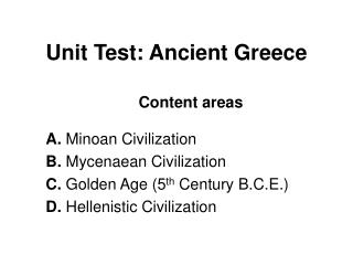 Unit Test: Ancient Greece