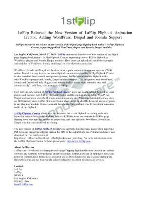 1stFlip Released the New Version of 1stFlip Flipbook Animati