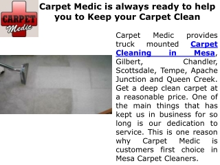 The Perfect Carpet Cleaning Service