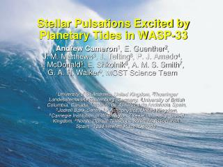 Stellar Pulsations Excited by Planetary Tides in WASP-33
