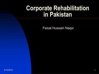 Corporate Rehabilitation in Pakistan