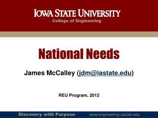 National Needs