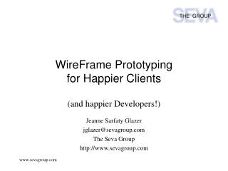 WireFrame Prototyping for Happier Clients