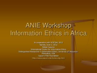 ANIE Workshop Information Ethics in Africa