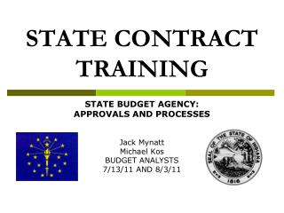 STATE CONTRACT TRAINING