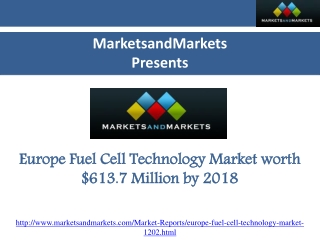 Europe Fuel Cell Technology Market is Expected to Reach $613