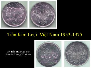 Tiền Kim Loại Việt Nam 1953-1975