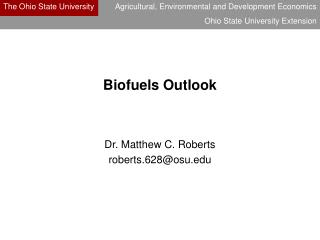 Biofuels Outlook