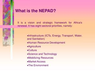 What is the NEPAD?