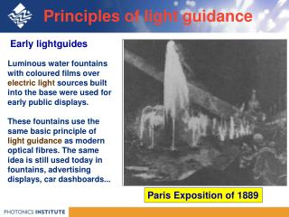 Principles of light guidance