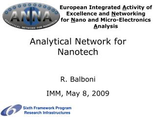 Analytical Network for Nanotech