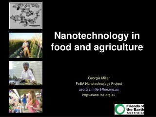 Nanotechnology in food and agriculture