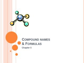Compound names & Formulas