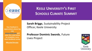 Sarah Briggs ,Sustainability Project Officer, Keele University