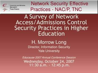 A Survey of Network Access/Admissions Control Security Practices in Higher Education