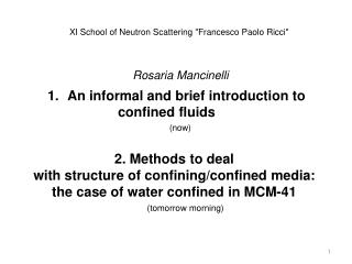 An informal and brief introduction to  			confined fluids