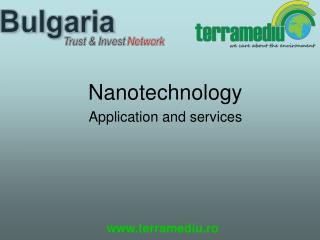 Nanotechnology Application and services