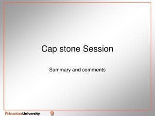 Cap stone Session