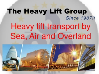 Heavy Lift Group | Global Project logistics