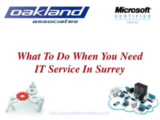What to do when you need IT service in Surrey