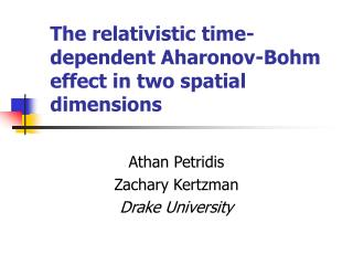The relativistic time-dependent Aharonov-Bohm effect in two spatial dimensions