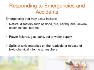 Responding to Emergencies and Accidents