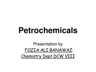 Petrochemicals
